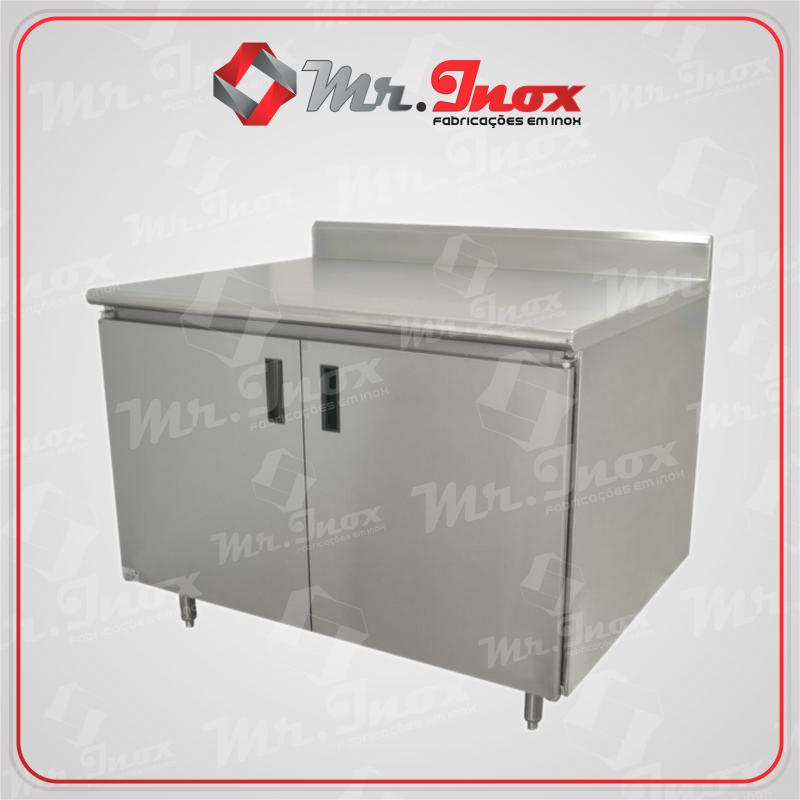 Armário de inox para padaria