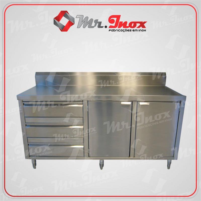 Bancada inox cozinha industrial preço
