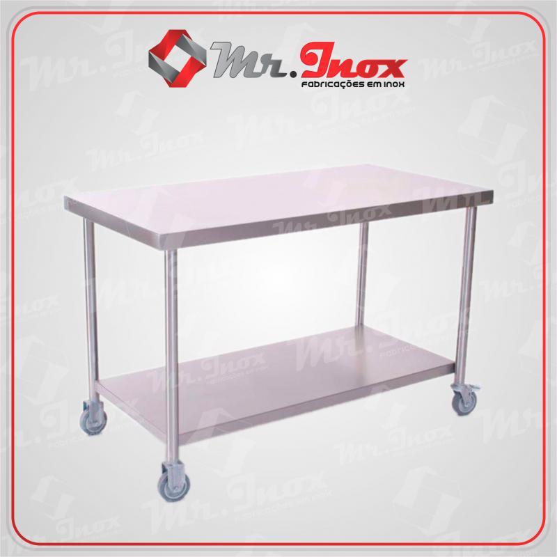 Preço mesa inox cozinha industrial