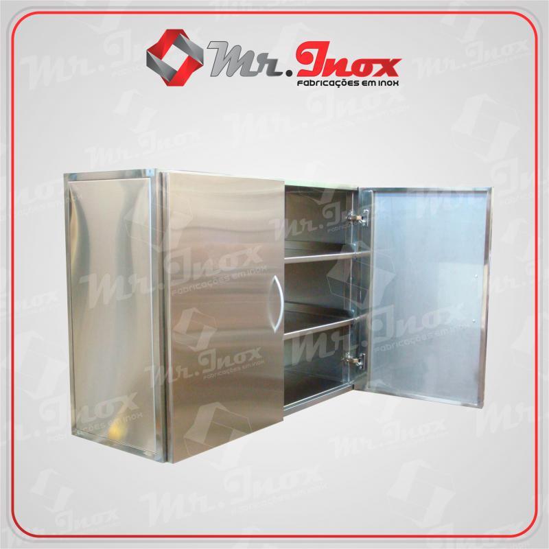 Armário inox para cozinha industrial